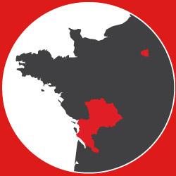 Implantation des agences Déménagements Philippe Guélin